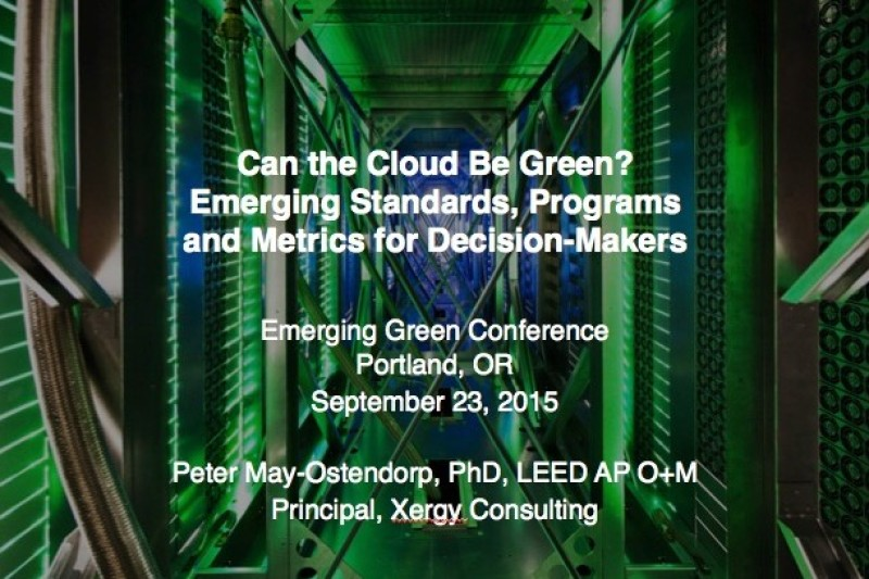 Greening the Cloud